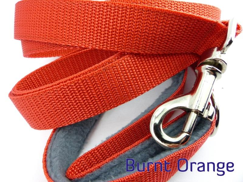 Burnt orange webbing long lead