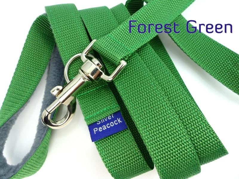 Forest green webbing multiway lead