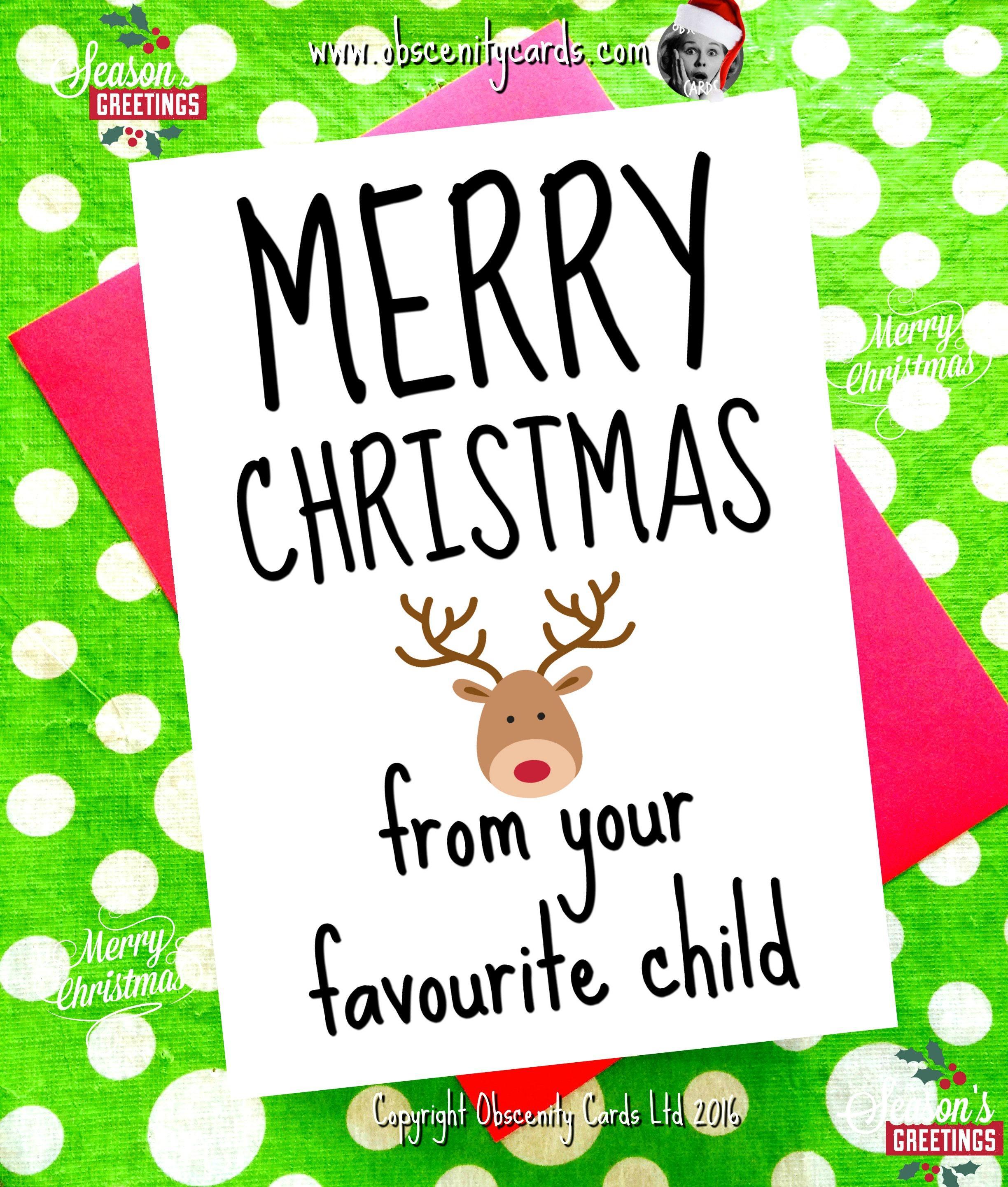 Christmas Card Message For Child