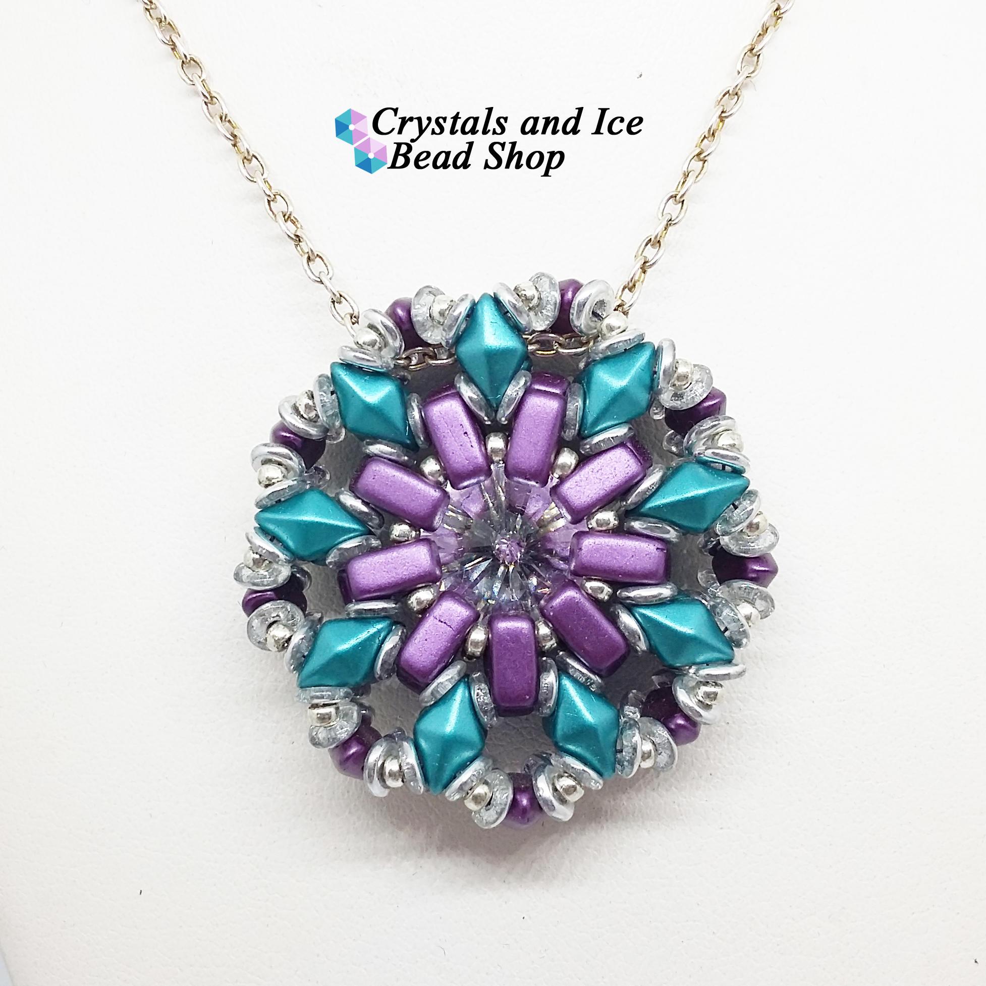 8b1e5a213cbf Diamond Celeste - Swarovski Rivoli Pendant Kit with DiamonDuo Beads -  Wimbledon