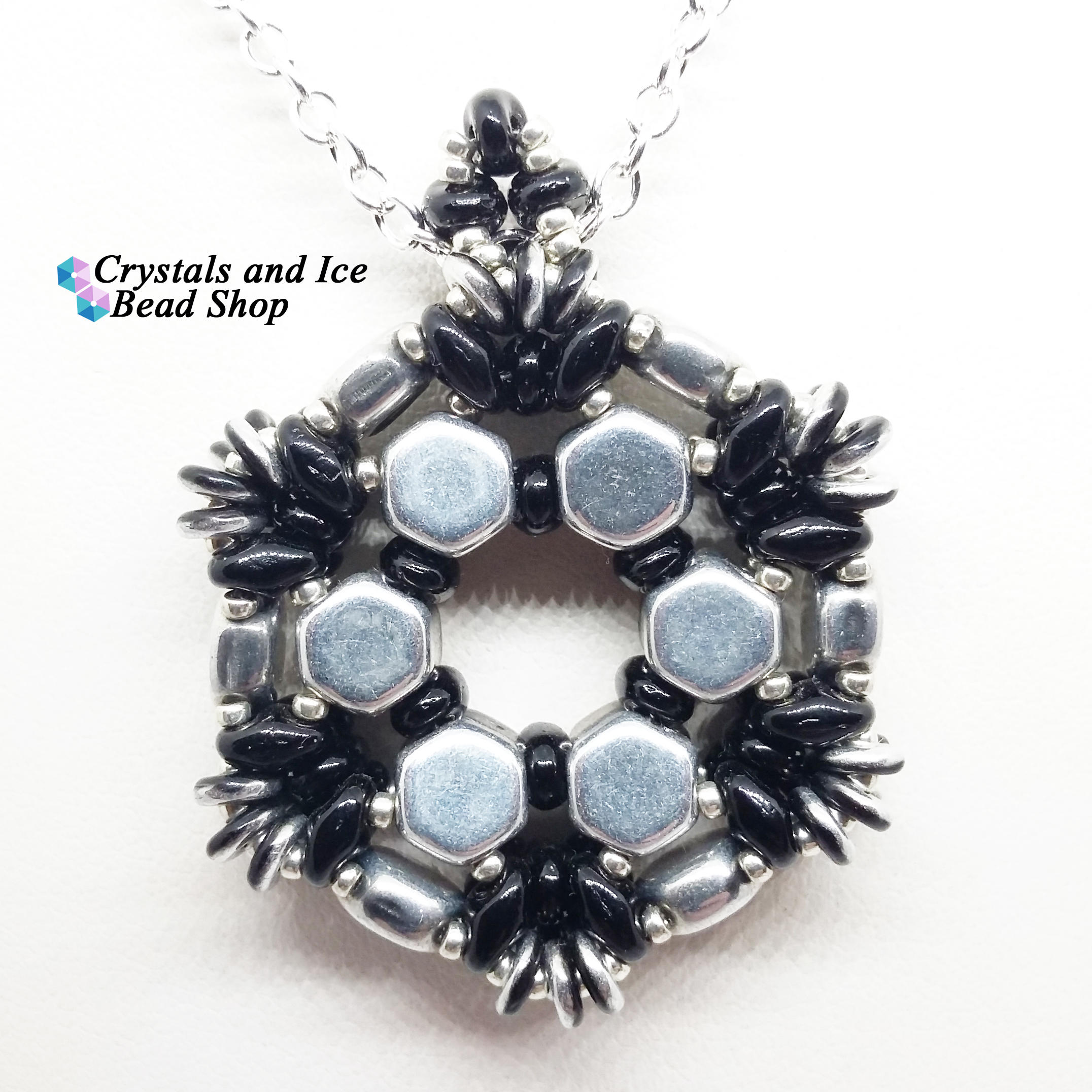 Spokes pendant kit silver and jet honeycomb spokes pendant kit silver and jet aloadofball Image collections