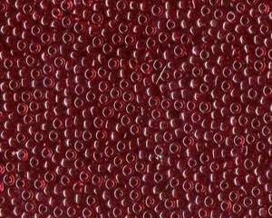 Miyuki Seed Beads 8/0 in Dark Red Transparent