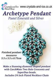 Archetype Pendant Kit - Pastel Emerald and Silver