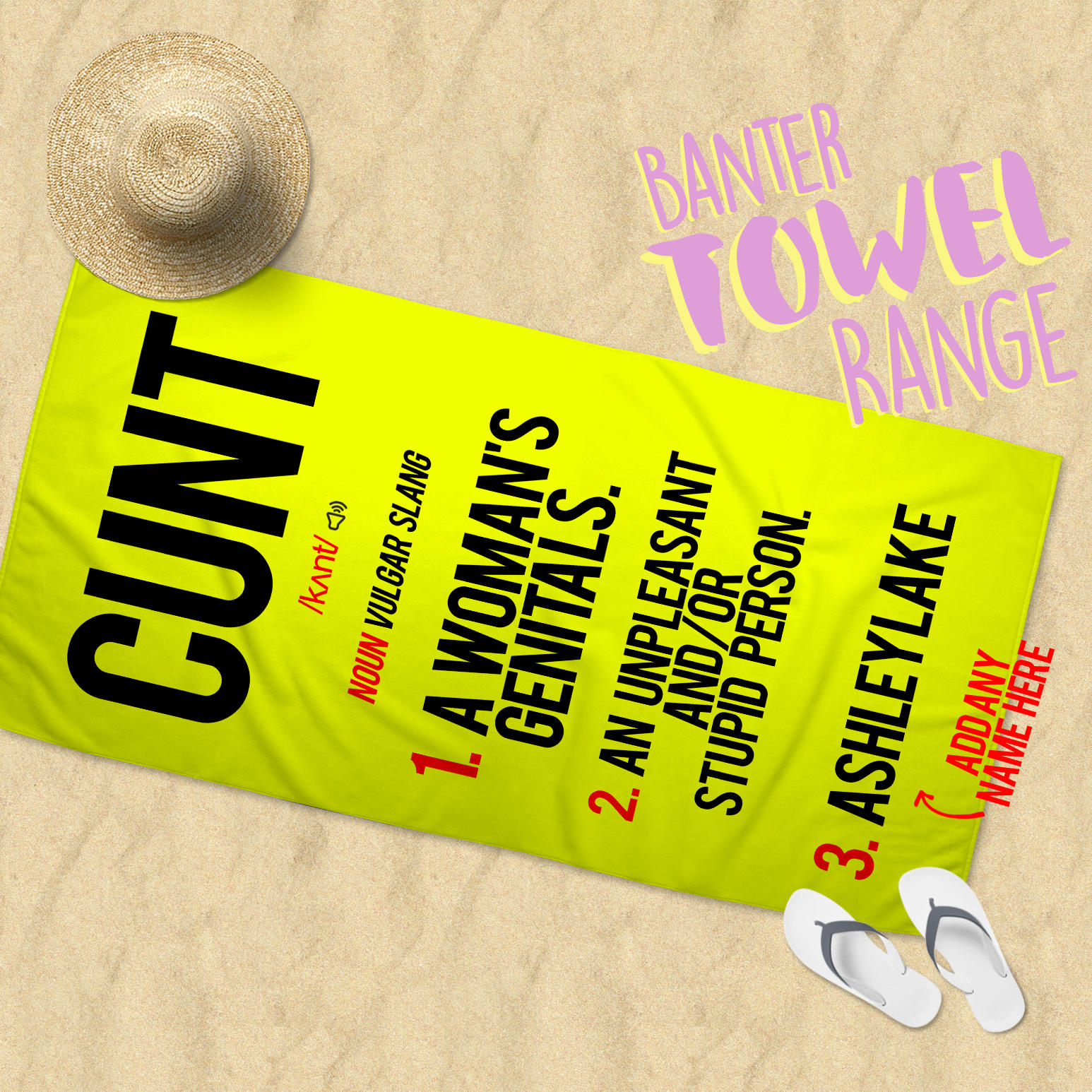 cunt definition towel (add any name)
