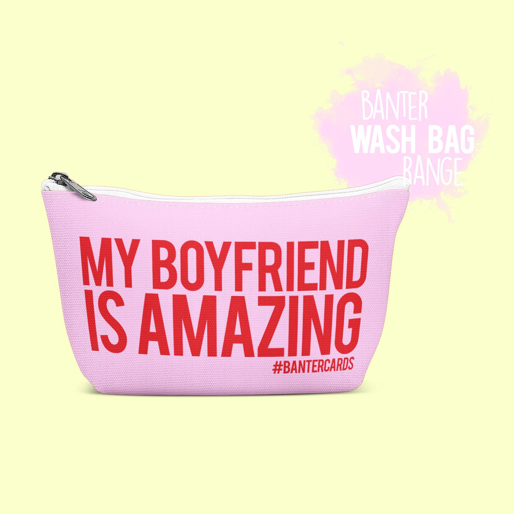 My Amazing: MY BOYFRIEND IS AMAZING WASH BAG (PINK