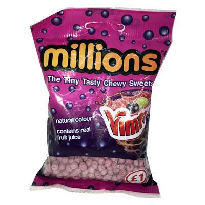 Lewis Food Wholesalers- Millions Bags Vimto x12