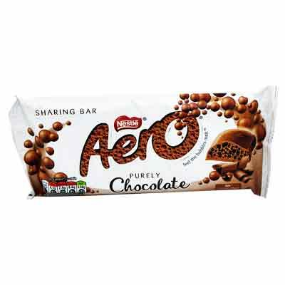 Lewis Food Wholesalers- Nestle Aero Milk Chocolate Bar 100g x15