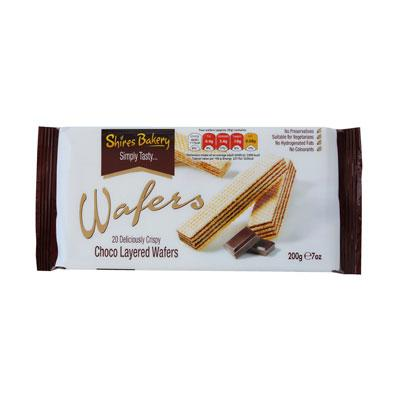Lewis Food Wholesalers- Shires Choco Wafers x12