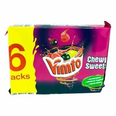 Lewis Food Wholesalers- Vimto Chewits 6Pk x1