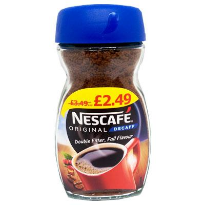 Lewis Food Wholesalers- Nescafe Decaf 100g x6