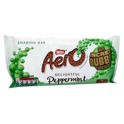 Lewis Food Wholesalers- Nestle Aero Peppermint Bar 100g x15