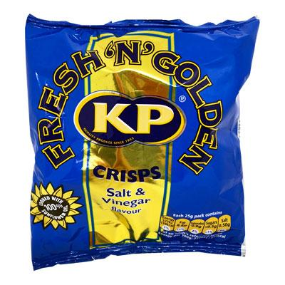 Lewis Food Wholesalers- Kp Crisp Salt & Vinegar 25g x48