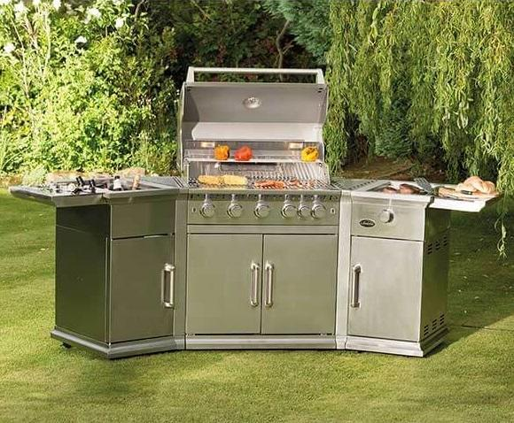 Stainless Steel Contemporary Garden Barbecue Outdoor Kitchen