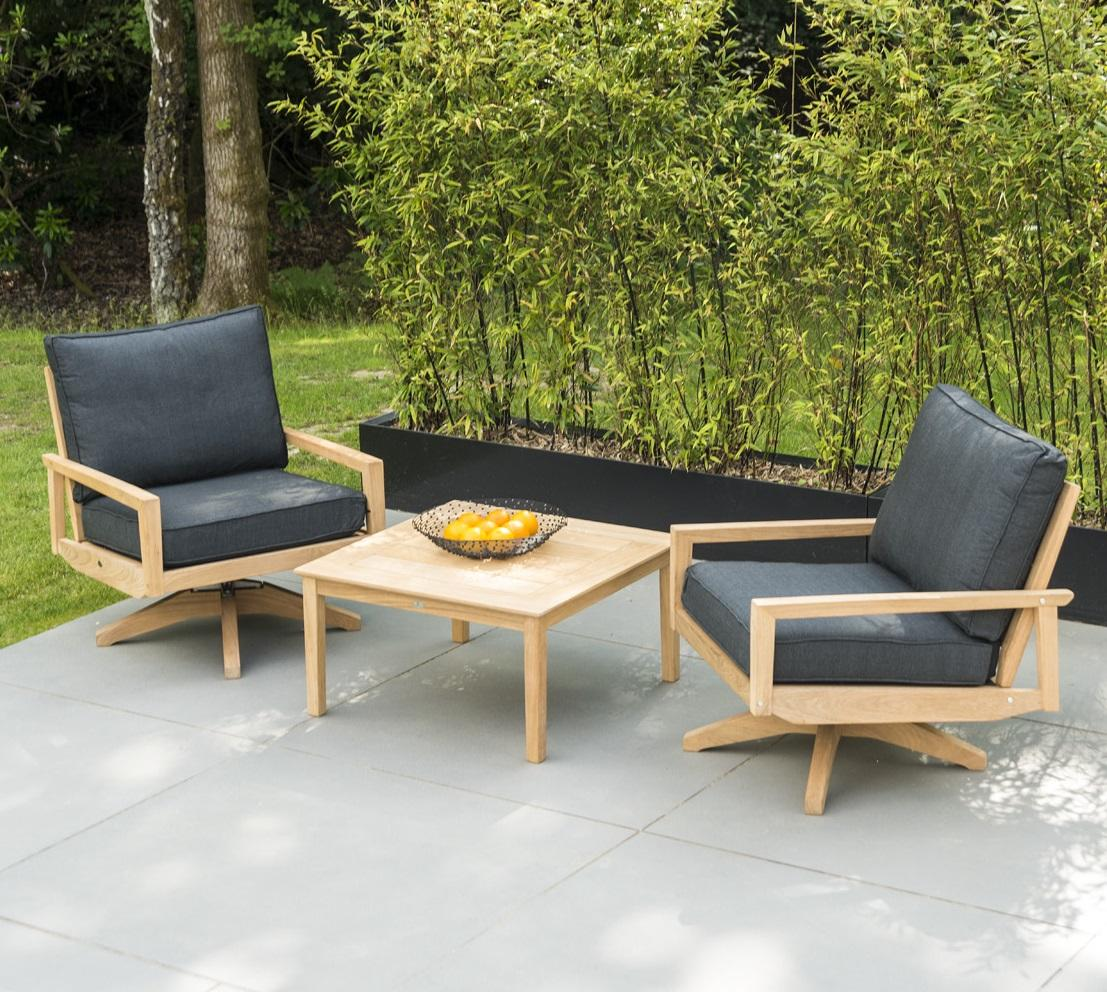 744b765659ab contemporary wood garden lounge swivel chairs in roble hardwood