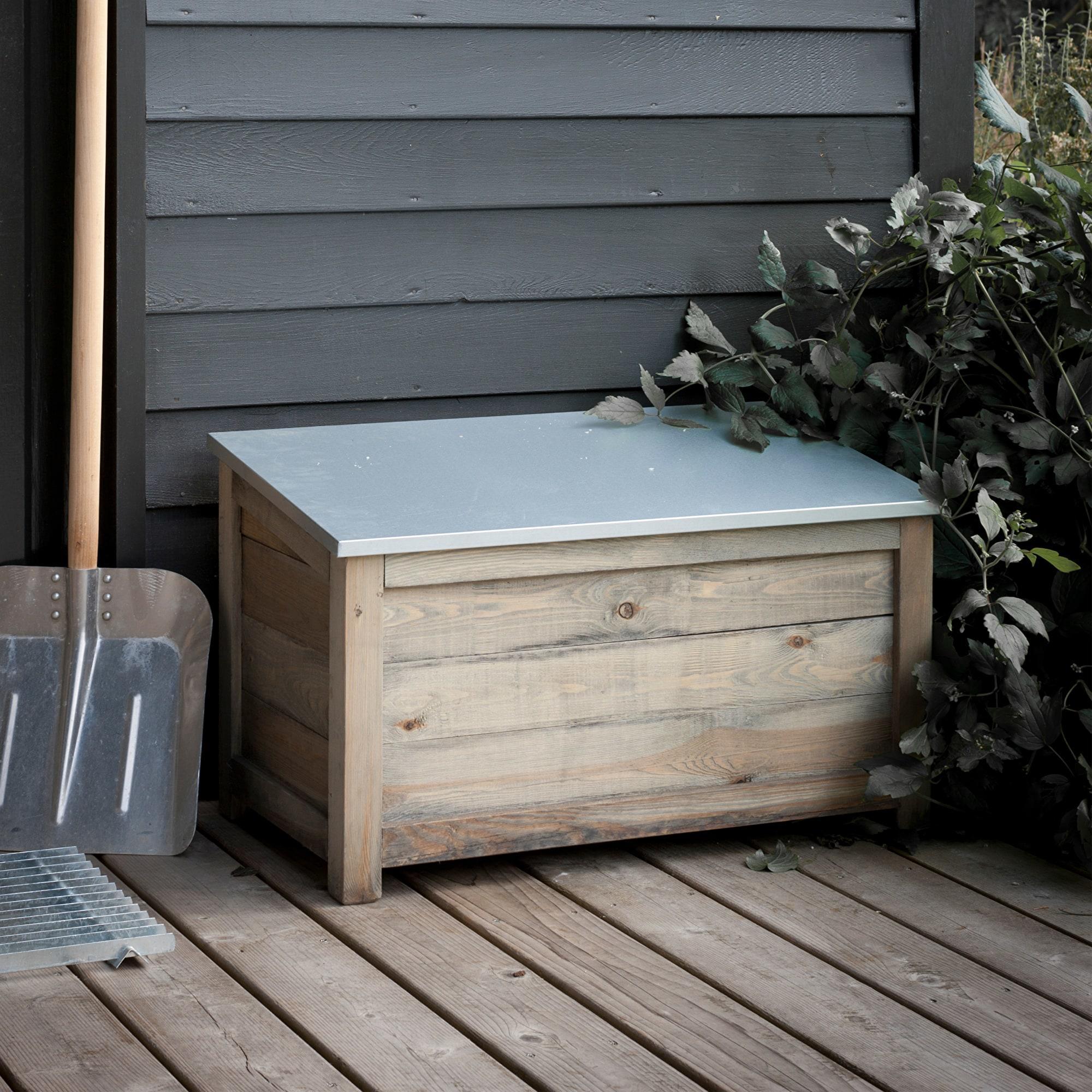 Outdoor Storage Box Garden Wood Spruce Weatherproof