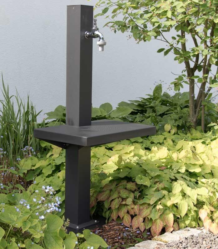 Garden Tap Metal Modern Aluminium Grey Contemporary Floor