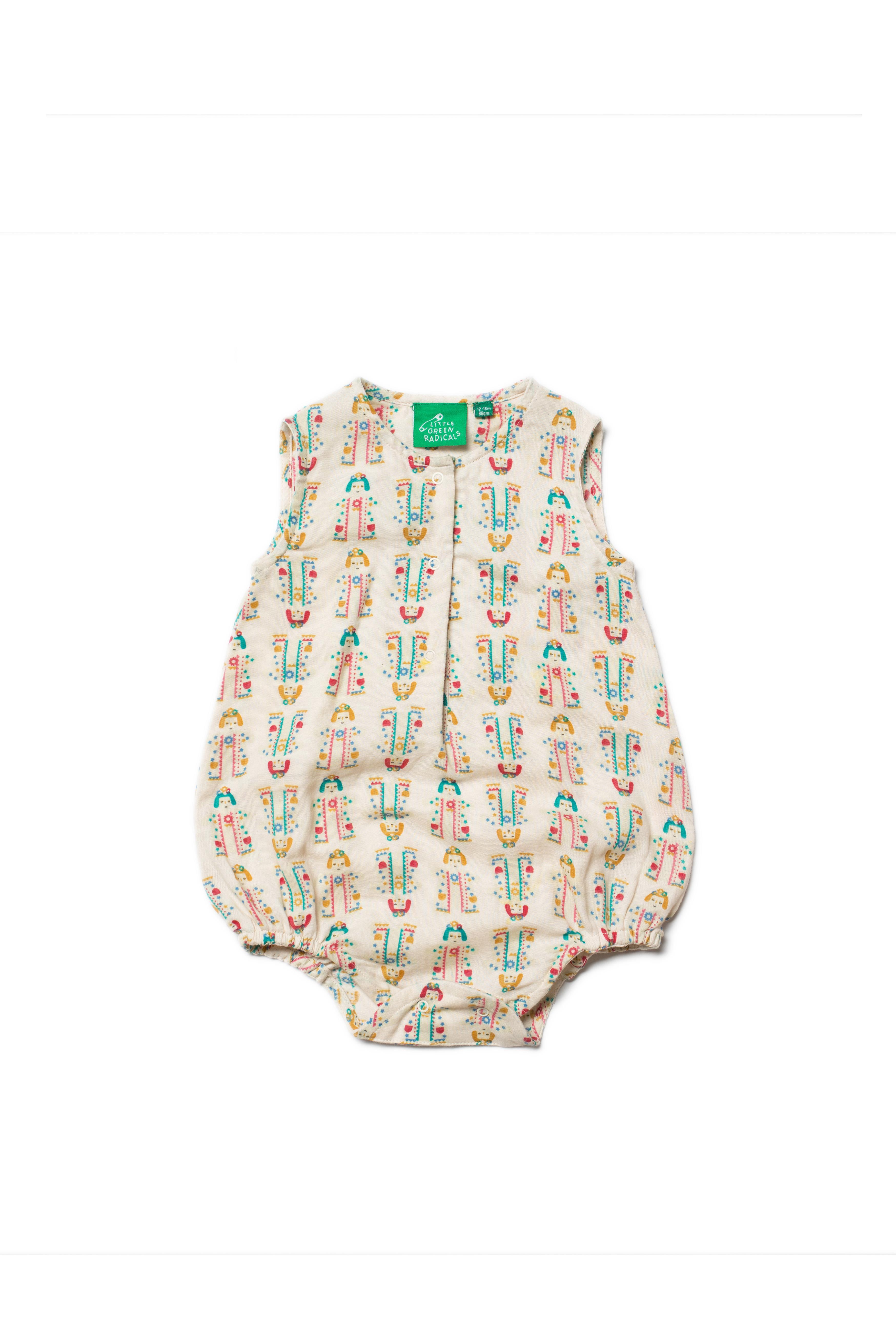 Little Green Radicals Babygrow 0 3 6 9 12 18 sleepsuit all in one Organic LGR