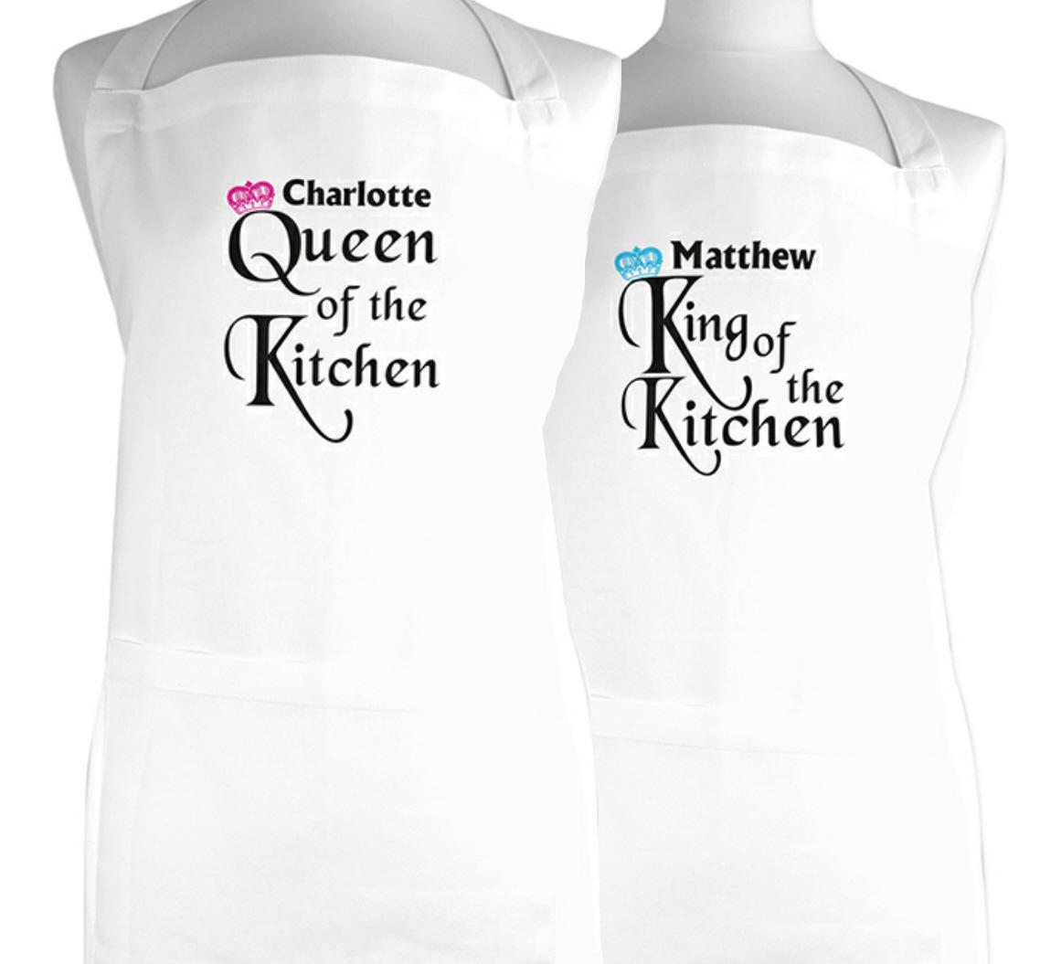 Personalised Queen/King of the Kitchen apron