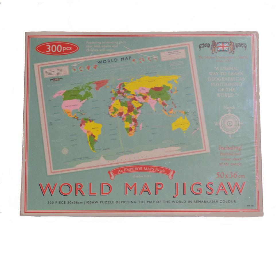 world map jigsaw 300 piece jigsaw puzzle