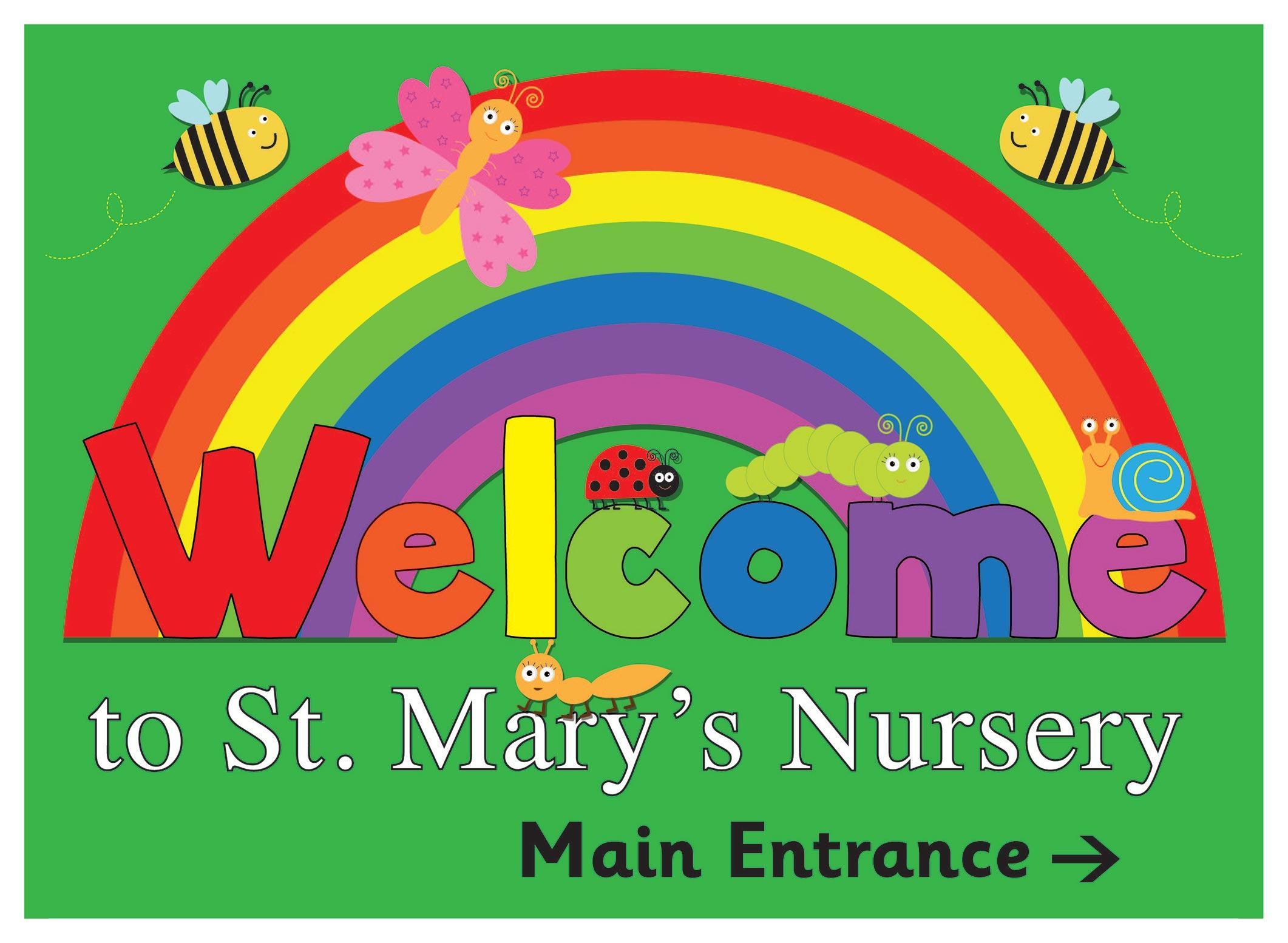 Garden Rainbow Welcome Sign