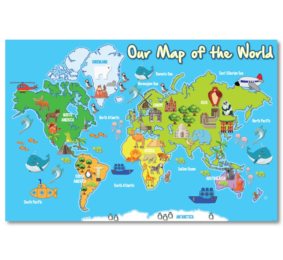 Fun Illustrated Our Map Of The World