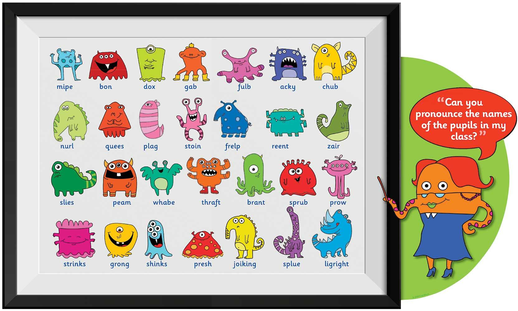 Nursery Wall Murals Phonics Screen Alien Class