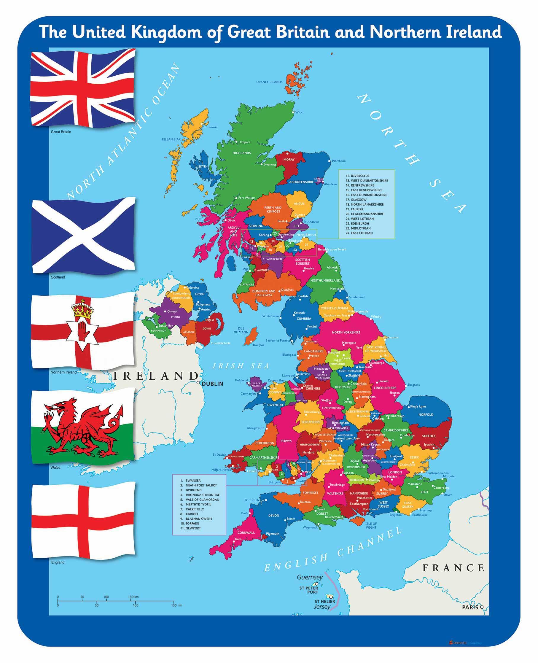 Image Of Uk Map.Illustrated Uk Map With Counties