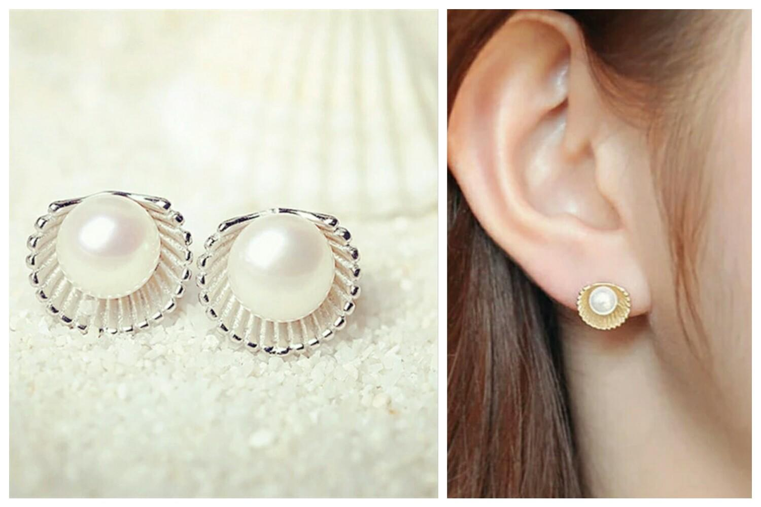 Image result for pearl earrings for office wear