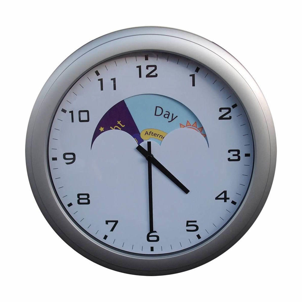 Day & Night Analogue Wall Clock with Text
