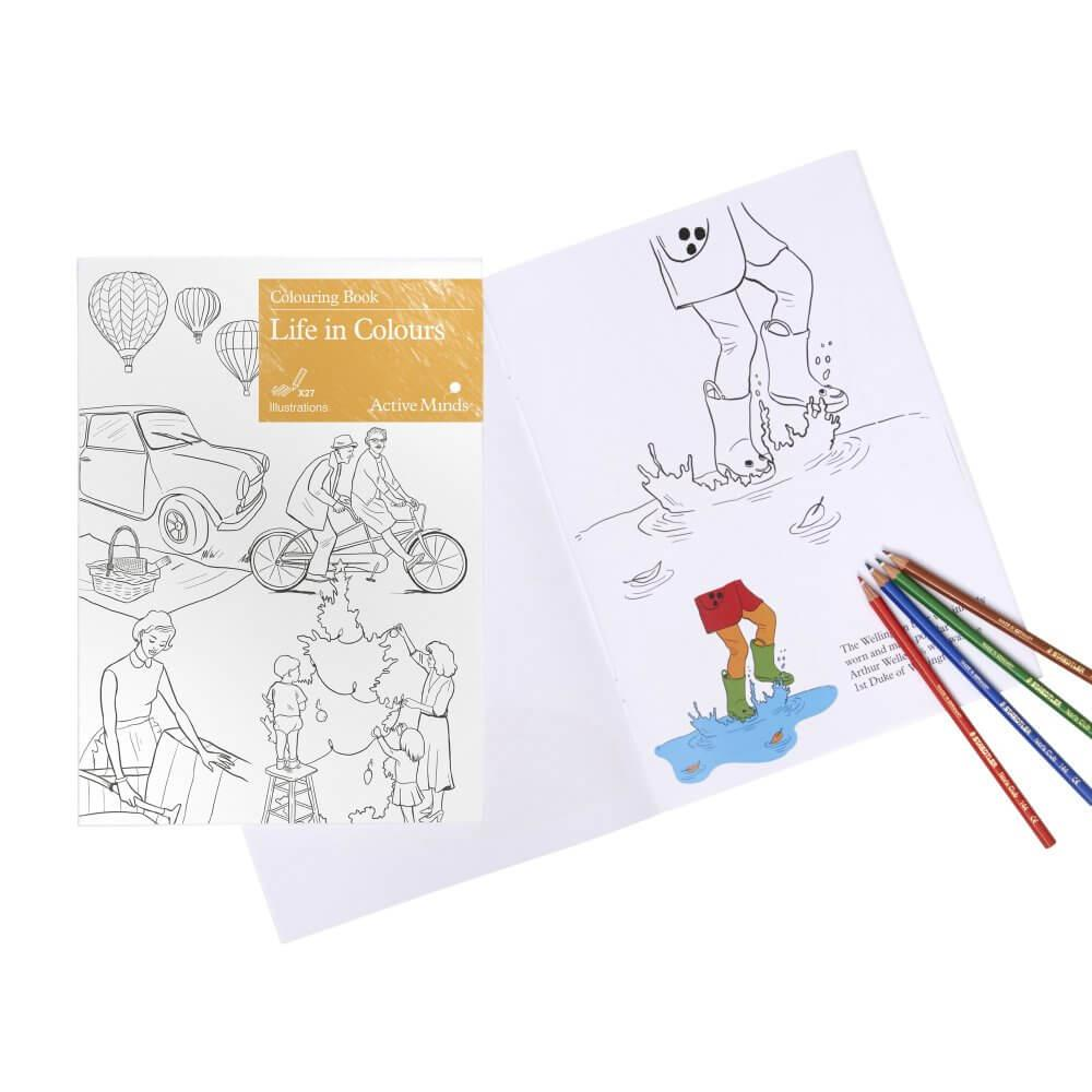 Colouring Book Life in Colours | ActiveMinds