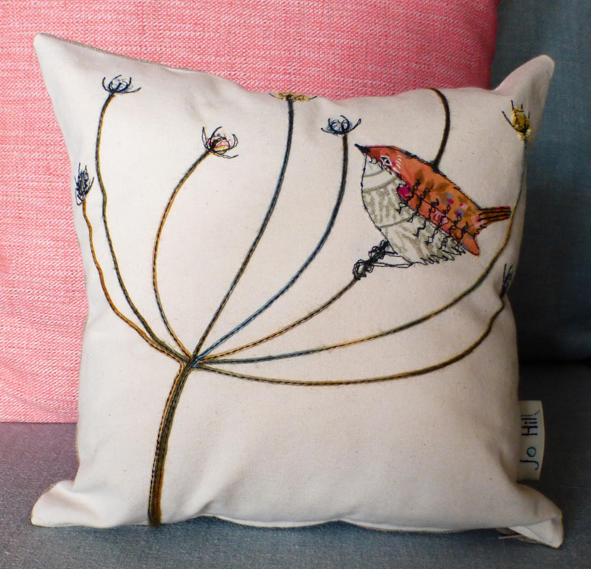 Wren cushion by Jo Hill