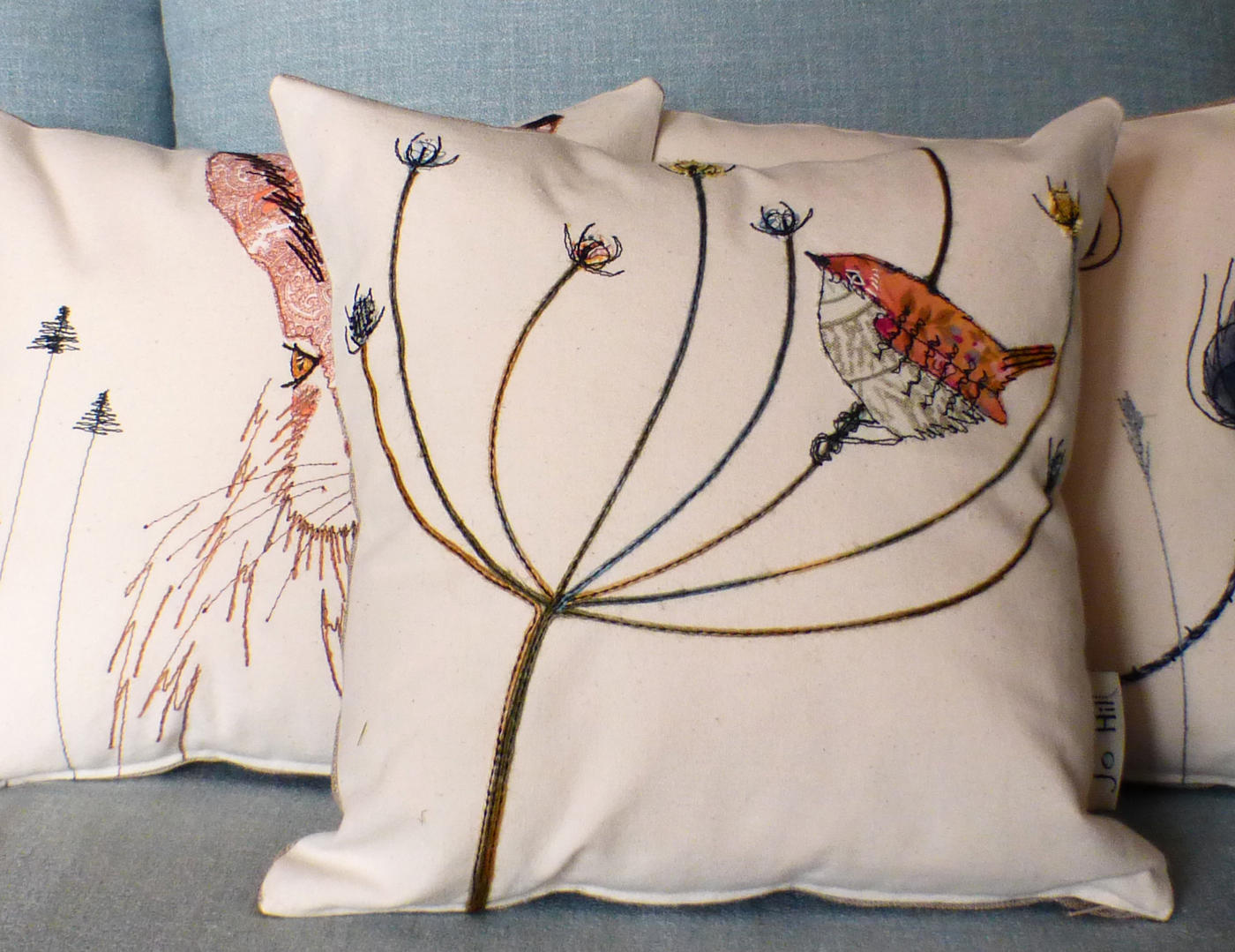 Wildlife cushions by Jo Hill