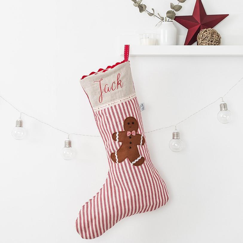 A Beautiful Gingerbread Man Designed Christmas Stocking
