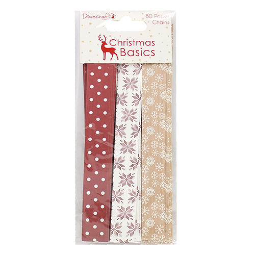 Christmas Paper Chains Uk.Paper Chains X 80pcs Per Pack Dctop034 Dovecraft