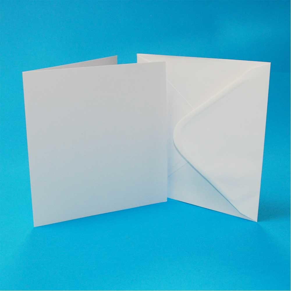 White 6 x 6-Inch Crafts UK 50 Cards and Envelopes