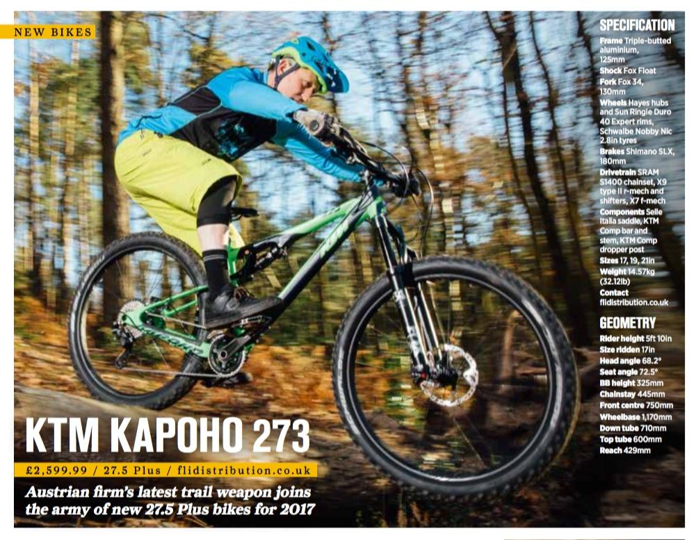 2017 KTM Kapoho 273 features in MBR January 2017