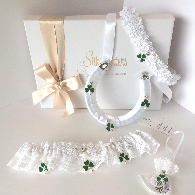 New Irish Wedding Garter Set Irish Bride St Patricks Day Wedding