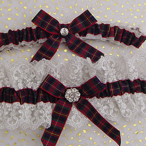 Choose Your Own Tartan Every Bride Loves Our Luxury Tulle Wedding Garter X