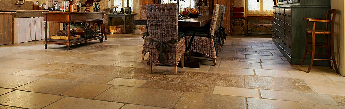 Flagstone floor tile