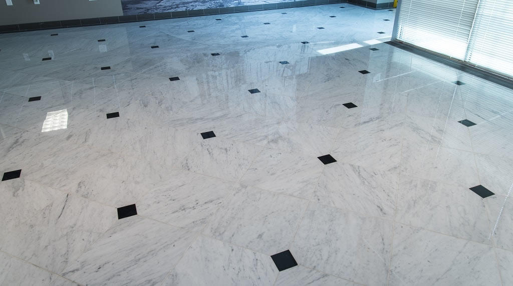 Bianco Carrara Italian Marble Tiles Honed