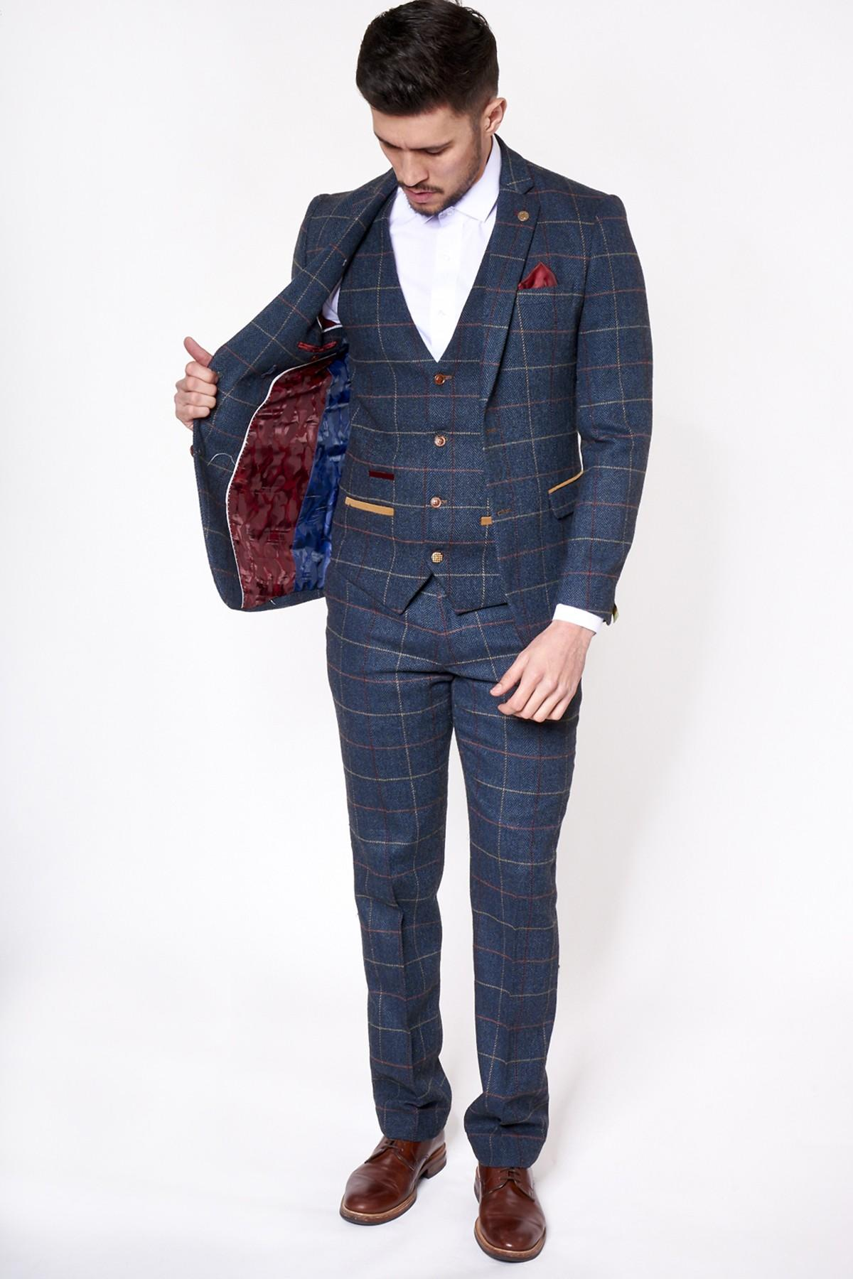 a3f76c72330f Marc Darcy ETON Blue Check Suit