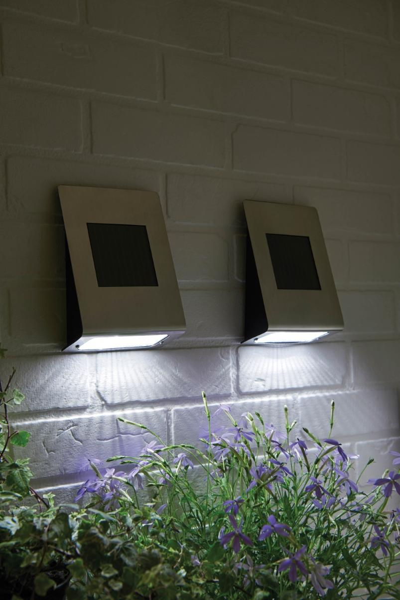 Solar wall lights stainless steel aloadofball Gallery