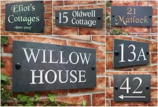 c700b598739c Slate House Signs with engraved House Names & Numbers