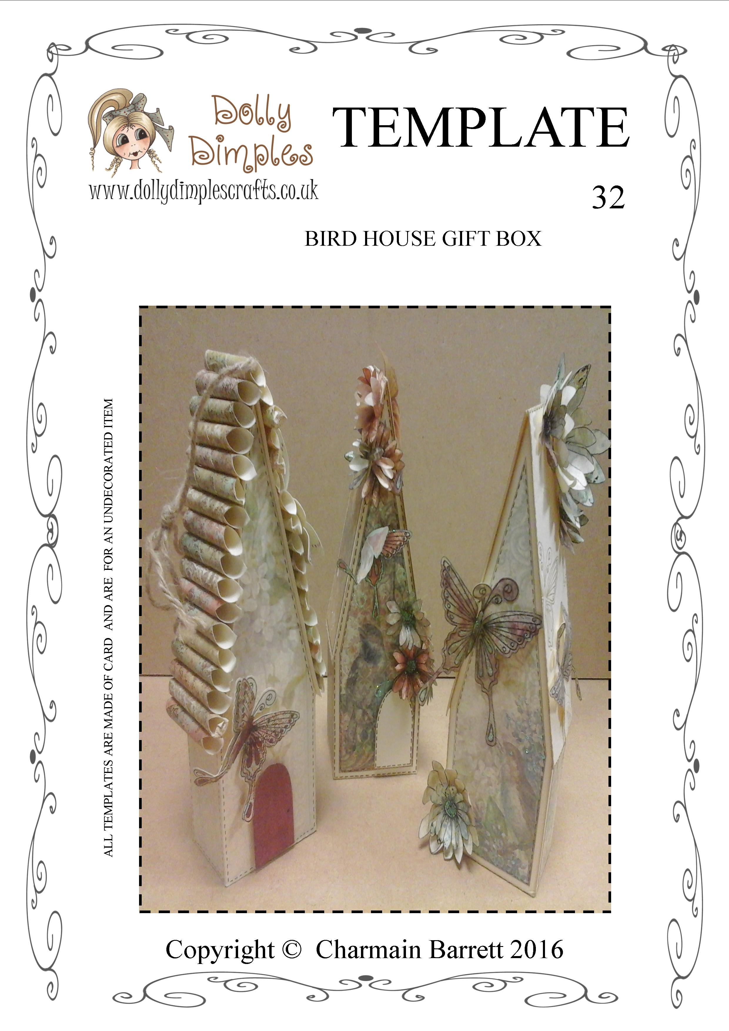 Bird House Gift Box template
