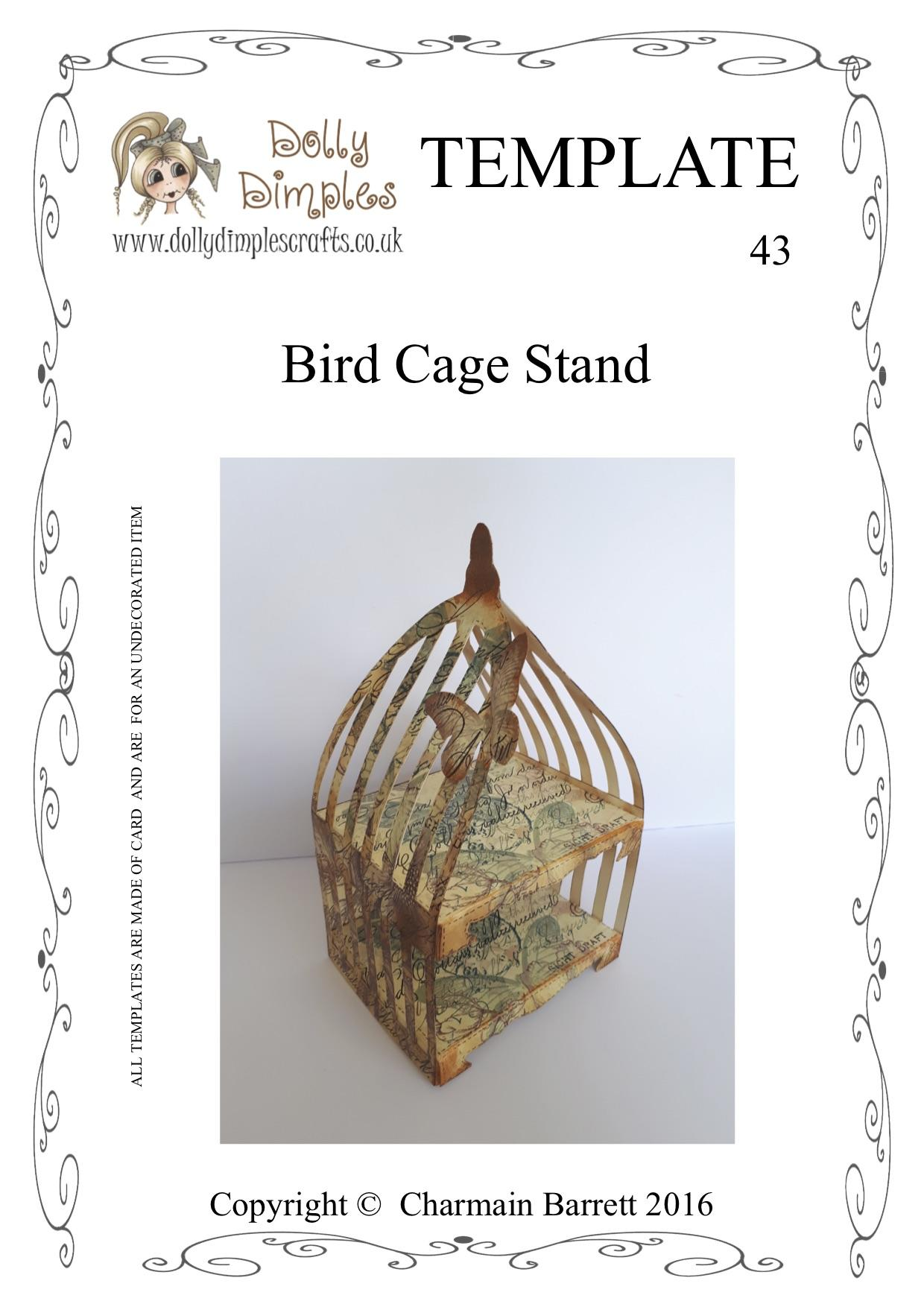 43  bird cage stand template