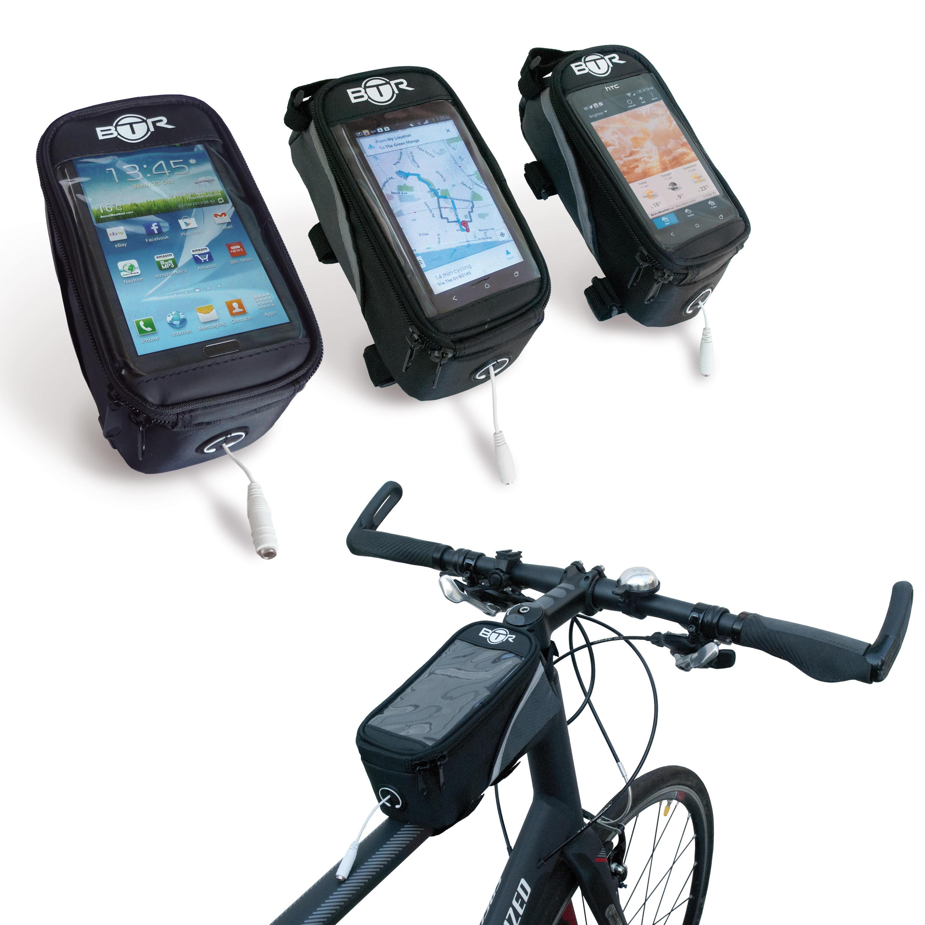 Btr Water Resistant Frame Bike Bag And Mobile Phone Holder