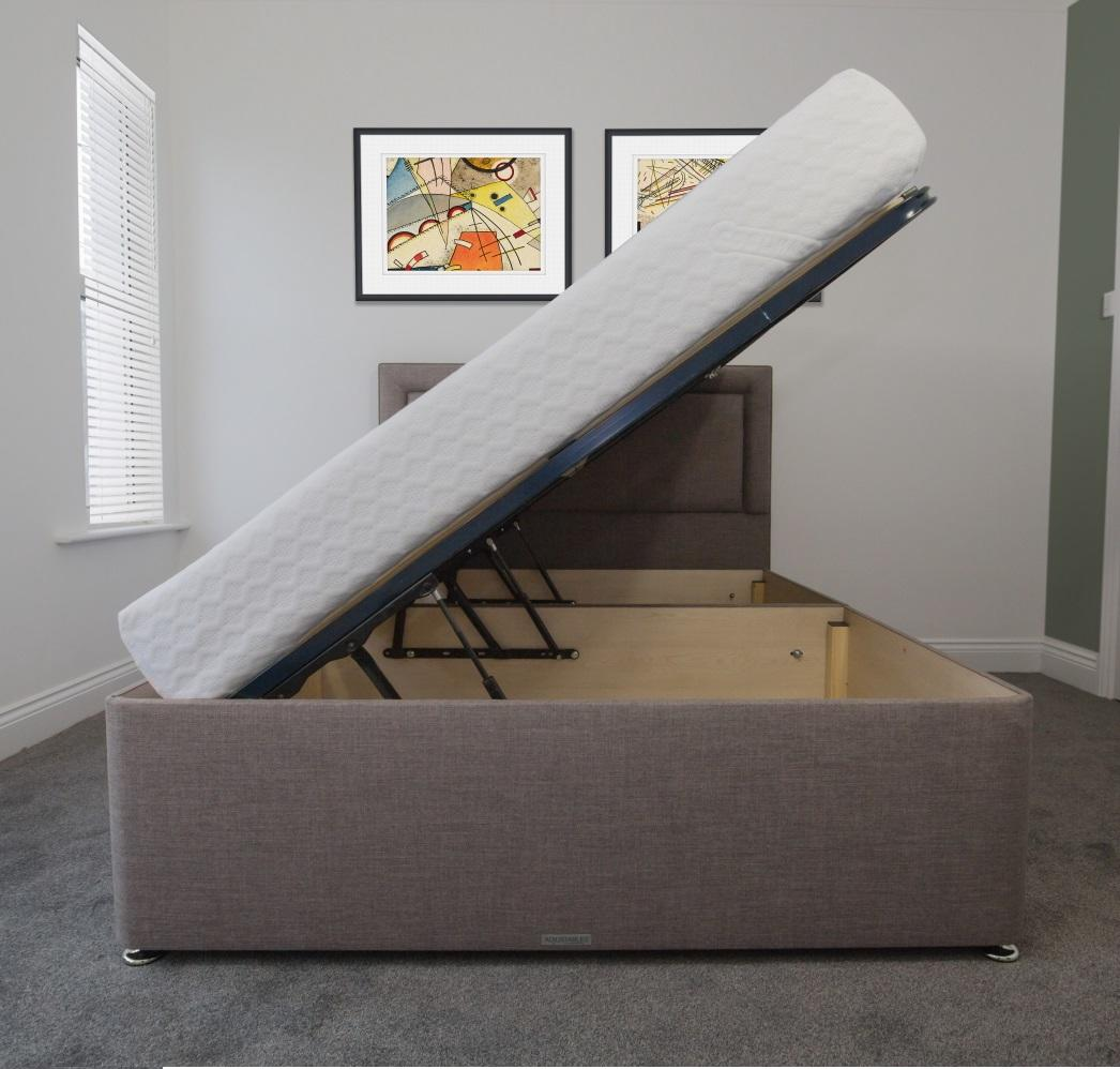 Awe Inspiring Large Storage 40Cm Deep Ottoman Side Lift Bed Base Only Gmtry Best Dining Table And Chair Ideas Images Gmtryco