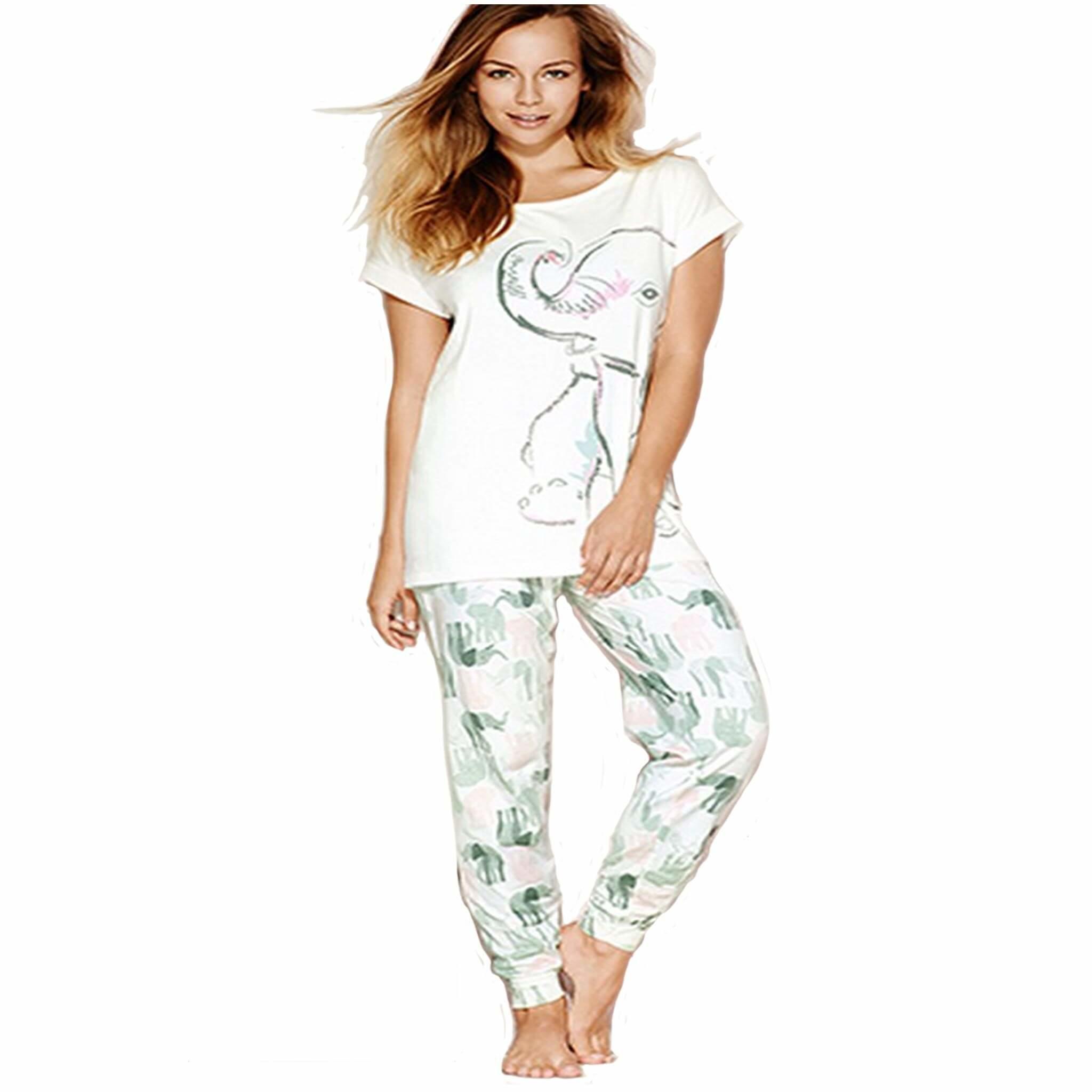Women/'s Nellie Elephant Pyjama Sets 18-20 Size