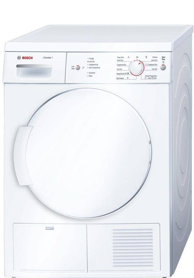 Bosch Serie 2 WTE84106GB 7Kg B Rated Condenser Tumble Dryer