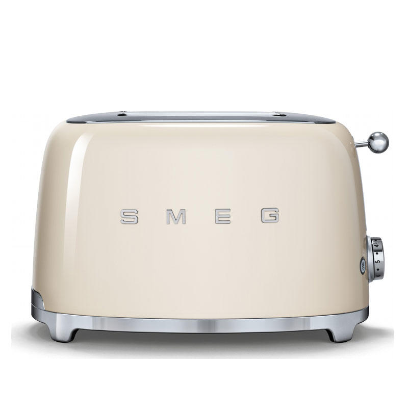 Smeg 50's Retro TSF01CRUK 2 Slice Toaster in Cream​
